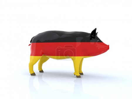 3d pork german flag
