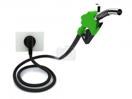 Fuel pump with electric cable and plug