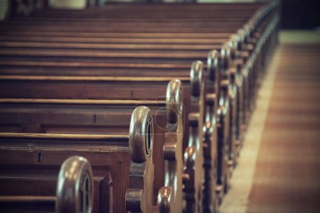 Photo for An image of a church pew - Royalty Free Image