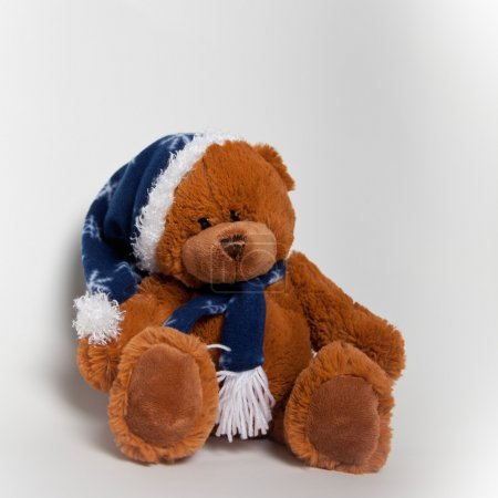 Photo for A sweet stuffed animal representing a christmas bear - Royalty Free Image