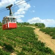 Funicular in Crimea. Cable way from Ai-petri...