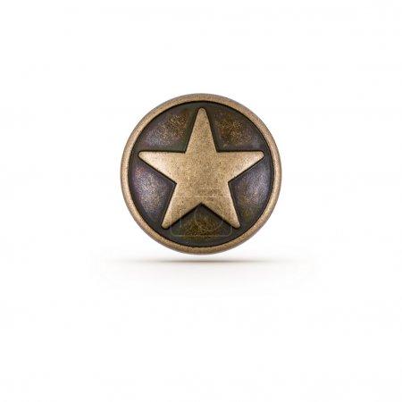 Photo pour Symbole étoile de bronze sur fond isolé - image libre de droit