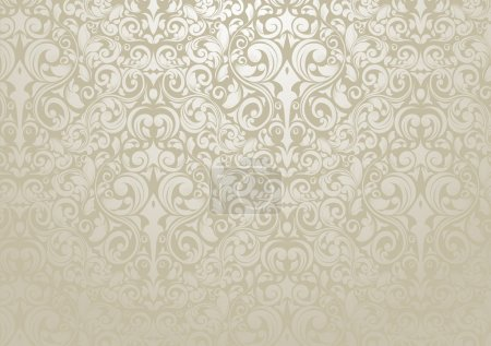 Illustration for Wallpaper design with silver tones - Royalty Free Image