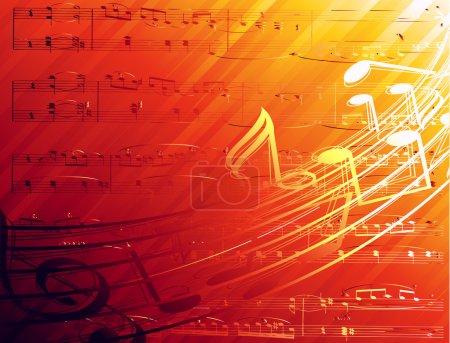Illustration pour Fond conçu pour les sujets musicaux.Fabriqué en gradient de maille . - image libre de droit