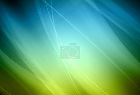 Photo pour Fond abstrait avec des faisceaux lumineux en couleur - image libre de droit