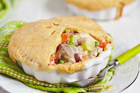 Photo for Chicken pot pie with vegetables - Royalty Free Image