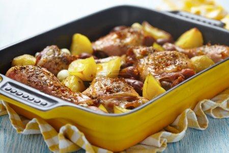 Spanish chicken casserole with chorizo