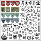 Collection of heraldic elements