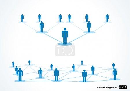 Illustration pour Illustration vectorielle symbolique pour les entreprises et l'emploi - image libre de droit