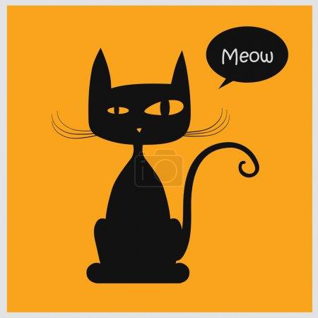 Illustration pour Illustration vectorielle de chat - image libre de droit