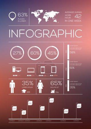 Illustration pour Définir les éléments d'infographie. Illustration vectorielle - image libre de droit