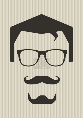 Man with glasses and mustaches.