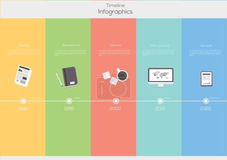 Illustration pour Montage infographique. modèle de conception plate vector. - image libre de droit