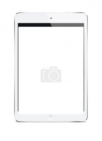 Photo for White tablet pc computer isolated on white background. Ipade style gadget - Royalty Free Image