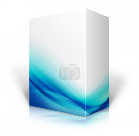 Blue and white box