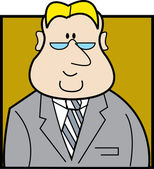 Blond haired lawyer manager or accountant businessman wearing glasses and a suit and tie