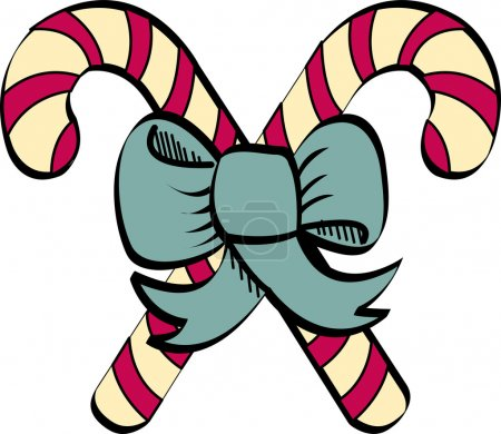 Illustration for Candy cane clip art - Royalty Free Image