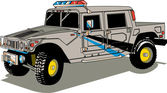 Big Gray Police Patrol Hummer H2 Vehicle
