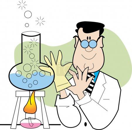 Happy Male Caucasian Scientist Mixing Ingredients ...