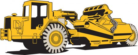Scraper or heavy machinery for asphalt paving