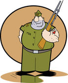Tough Drill Sergeant In Uniform