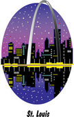 St Louis Missouri And Arch Stock Illustration