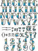 Tattoo Alphabet und Symbole