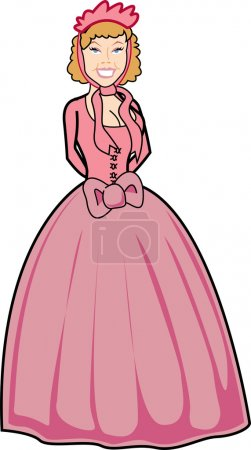 Victorian Woman In A Pink Dress