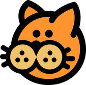 Obrázek retro obrázek tlačítka nosem kočka
