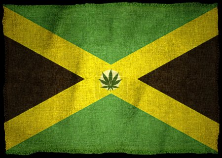 Flag of jamaica with illustration...