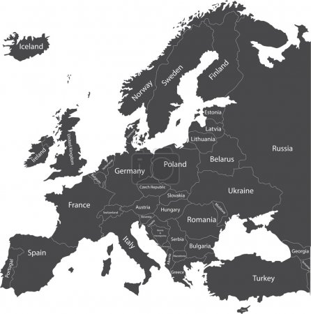 Europe political map with country names...