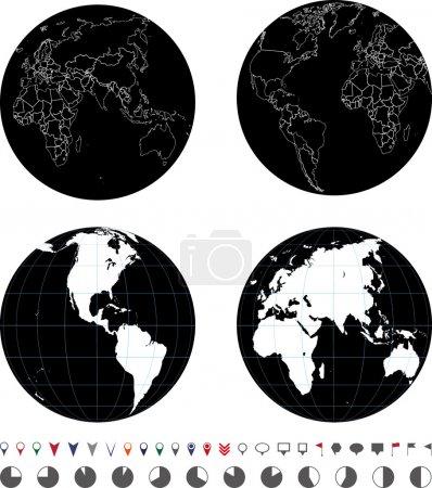 Illustration for Globes - Royalty Free Image