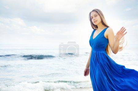 beautiful woman on beach bali