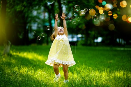 Photo for Girl with bubbles - Royalty Free Image