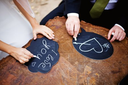 Photo for Hands drawing love - Royalty Free Image