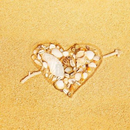 Heart on the sand...