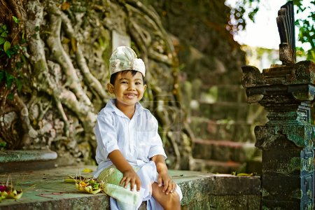 Balinese boy in traditional costume