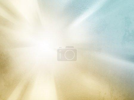 Photo pour Fond grunge abstrait - doux coup de soleil léger - texture floue du soleil et du ciel - image libre de droit