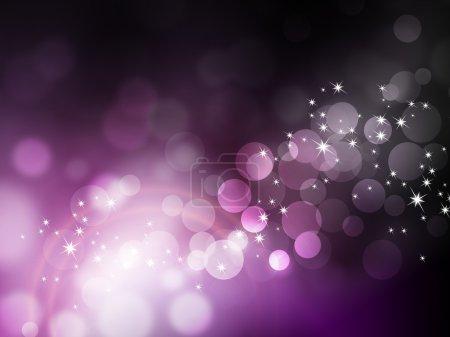 Photo pour Bokeh fond violet - motif festif - image libre de droit