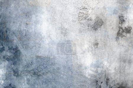 Photo pour Gradient de fond gris bleu vintage abstrait - image libre de droit