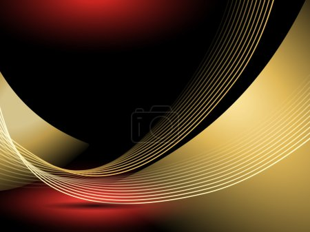 Abstract gold background lines