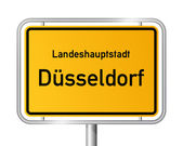 City limit sign DUSSELDORF - DÜSSELDORF - Germany
