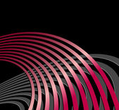 Radio waves - sound waves - abstract black background with red lines