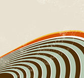 Abstract background with curved lines - sound waves - radio waves