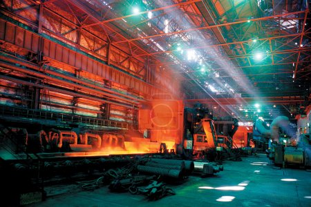 Rolling mill steel works
