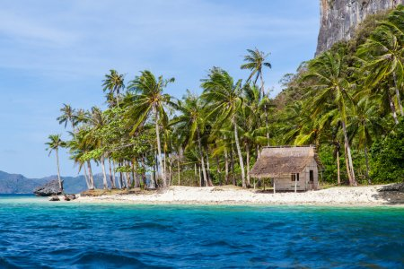 Abandoned house in the paradise island