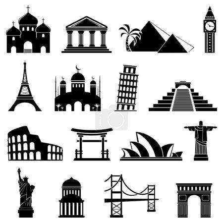 Photo pour Icônes de repères vectoriels - image libre de droit