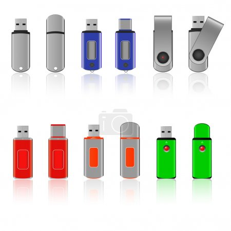USB flash memory set
