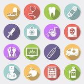 16 medical and health care icons Vector illustration
