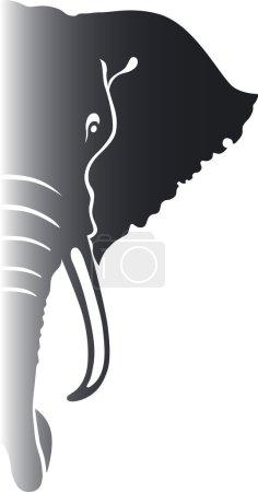 Illustration pour Éléphant. Illustration vectorielle . - image libre de droit